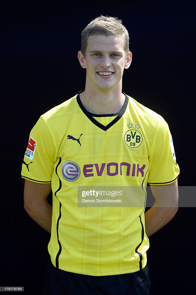 Sven Bender poses during the Borussia Dortmund Team Presentation at Brackel Training Ground on July 9, 2013 in Dortmund, Germany.