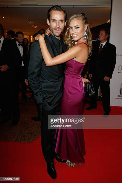 Sven Hannawald and Alena Gerber attend Audi Generation Award 2013 on October 19 2013 in Munich Germany
