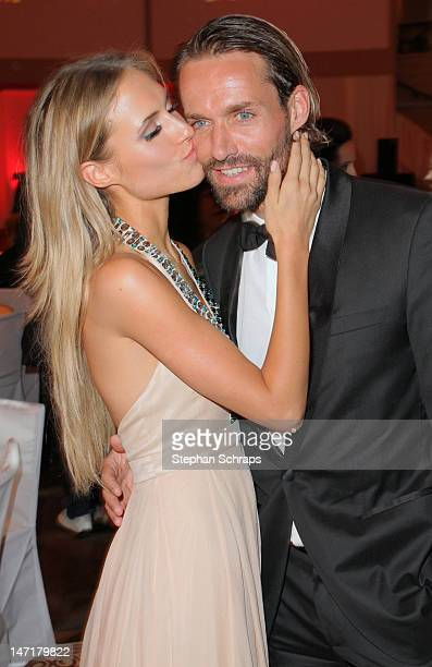 Sven Hannawald and girlfriend Alena Gerber attend the Diva Award 2012 at Hotel Bayerischer Hof Promenadeplatz on June 26 2012 in Munich Germany