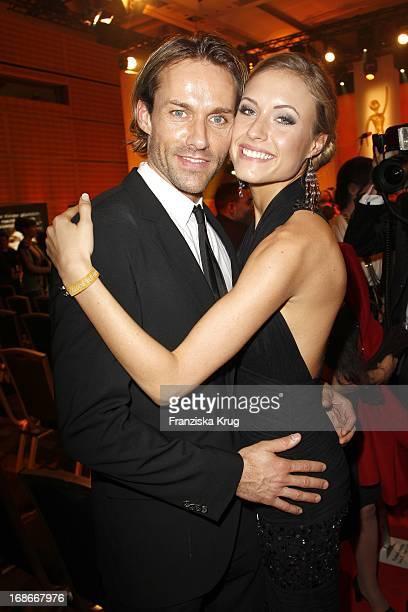 Sven Hannawald And Girlfriend Alena Gerber In The ceremony The Golden 'Bild Der Frau' Awards In UllsteinHalle in Berlin