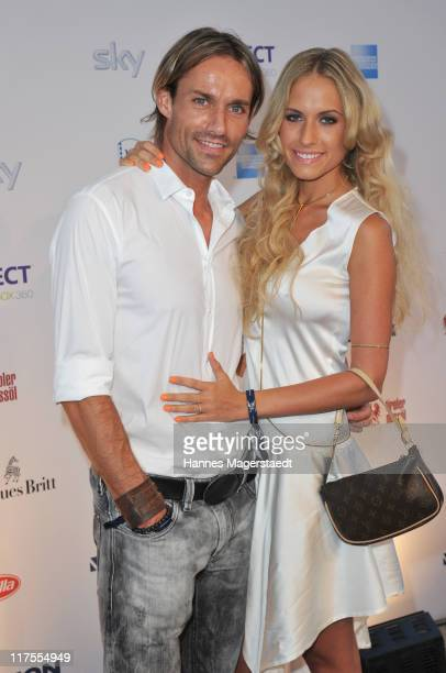Sven Hannawald and his girlfriend Alena Gerber attend the Movie Meets Media party at P1 on June 27 2011 in Munich Germany