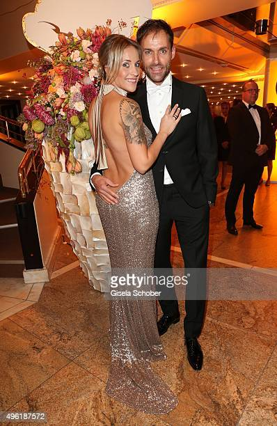 Sven Hannawald and his partner Melissa Thiem during the German Sports Media Ball at Alte Oper on November 7 2015 in Frankfurt am Main Germany