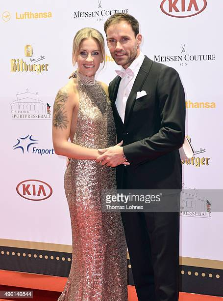 Sven Hannawald and Melissa Thiem attend the German Sports Media Ball at Alte Oper on November 7 2015 in Frankfurt am Main Germany