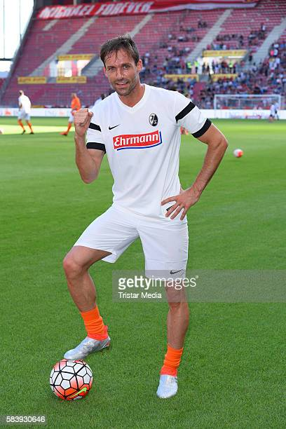 Sven Hannawald during the 'Champions for charity' football match between Nowitzki All Stars and Nazionale Piloti in honor of Michael Schumacher at...