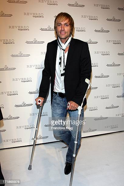 Sven Hannawald on crutches When Launch The Watch 'Reverso Squadra Lady' from JaegerLecoultre In The University riding school north Munich