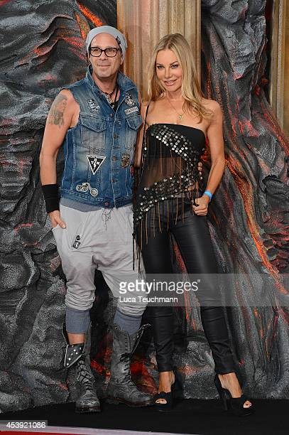 Sven KilthauLander and Xenia Seeberg attend the European premiere of the film 'Hercules' at CineStar on August 21 2014 in Berlin Germany