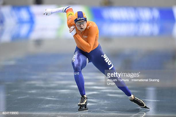Sven Kramer of Netherlands competes in Men 5000m Division A at M Wave on November 18 2016 in Nagano Japan