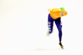 Sven Kramer of Netherlands competes in the 5000m Mens during the Essent ISU European Speed Skating Championships 2013 at Thialf Stadium on January 11...