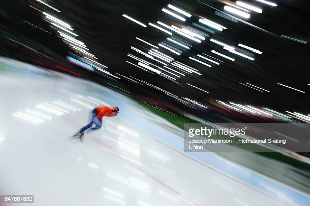 Sven Kramer of Netherlands competes in the Men's 5000m during day one of the World Allround Speed Skating Championships at Viking Skipet Hamar...