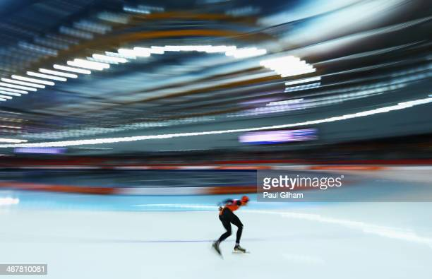 Sven Kramer of the Netherlands competes during the Men's 5000m Speed Skating event during day 1 of the Sochi 2014 Winter Olympics at Adler Arena...