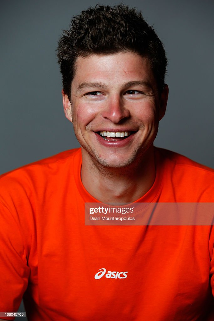 Sven Kramer, poses during the NOC*NSF (Nederlands Olympisch Comite * Nederlandse Sport Federatie) Sochi athletes and officials photo shoot for Asics at the Spoorwegmuseum on May 4, 2013 in Utrecht, Netherlands.