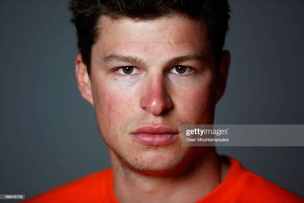 <a gi-track='captionPersonalityLinkClicked' href=/galleries/search?phrase=Sven+Kramer&family=editorial&specificpeople=769363 ng-click='$event.stopPropagation()'>Sven Kramer</a>, poses during the NOC*NSF (Nederlands Olympisch Comite * Nederlandse Sport Federatie) Sochi athletes and officials photo shoot for Asics at the Spoorwegmuseum on May 4, 2013 in Utrecht, Netherlands.