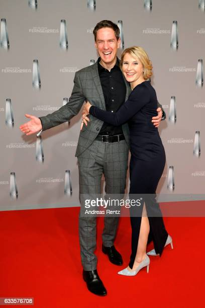 Sven Lorig and Susan Link attend the German Television Award at Rheinterrasse on February 2 2017 in Duesseldorf Germany