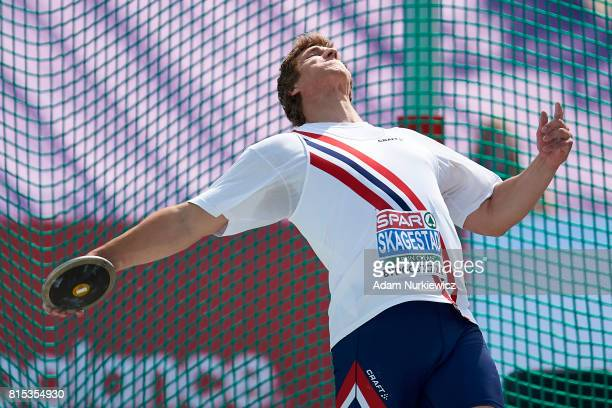 Sven Martin Skagestad from Norway competes in men's discus throw final during Day 4 of European Athletics U23 Championships 2017 at Zawisza Stadium...
