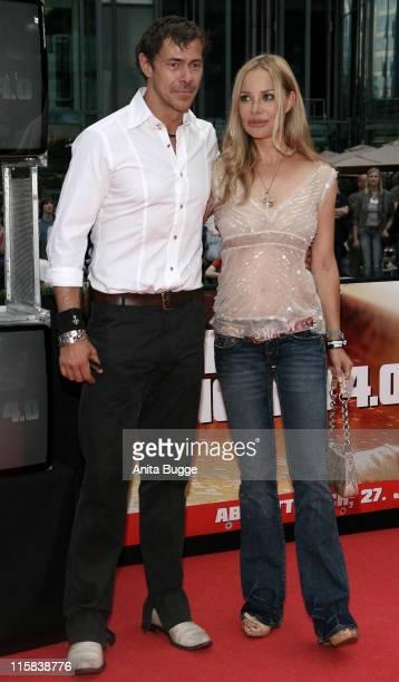 Sven Martinek and Xenia Seeberg during 'Live Free or Die Hard' Berlin Premiere Arrivals at CineStar Movie Theatre in Berlin Berlin Germany
