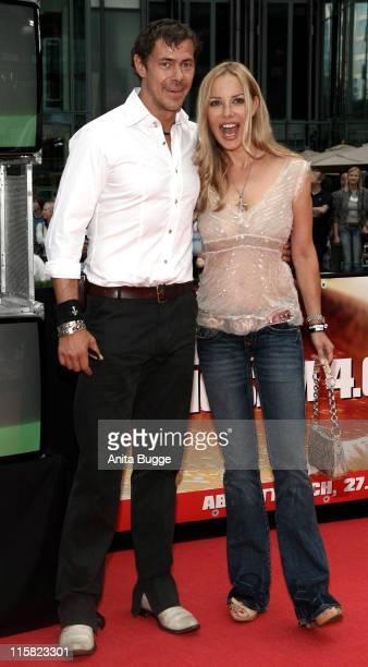 Sven Martinek und Xenia Seeberg during 'Live Free or Die Hard' Berlin Premiere Arrivals at CineStar Movie Theatre in Berlin Berlin Germany