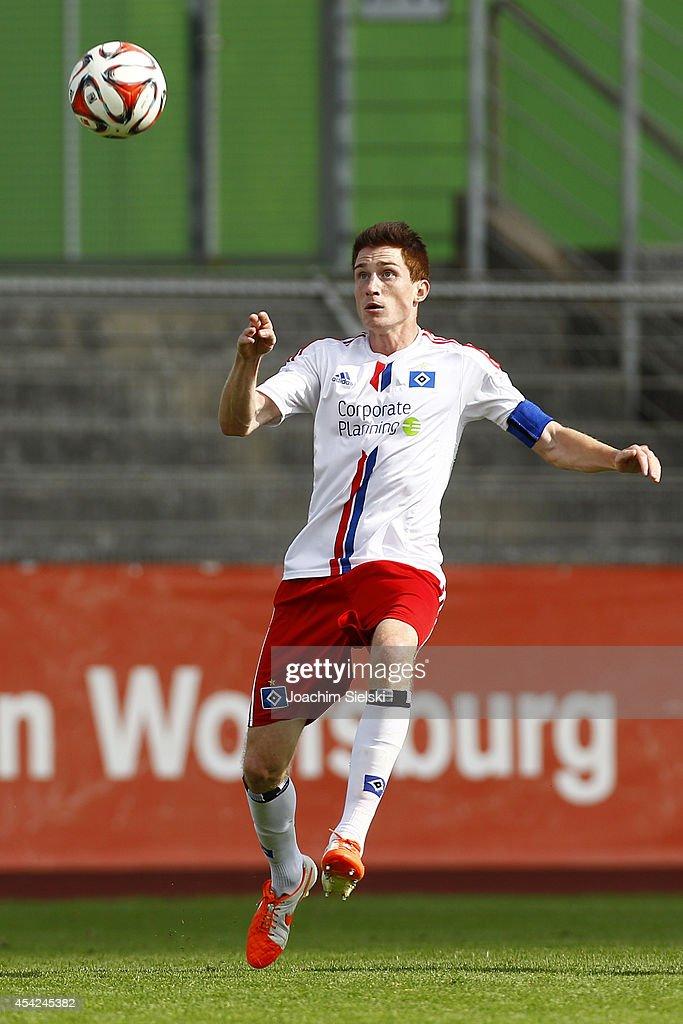 Sven Mende of Hamburg during the third league match between VfL Wolfsburg II and Hamburger SV II at VfL Stadion am Elsterweg on August 24, 2014 in Wolfsburg, Germany.