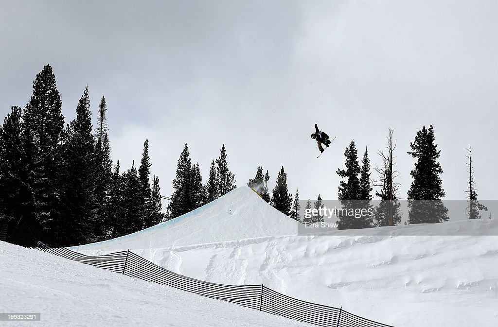 Sven Sandbech of Norway competes in the FIS Snowboard Slope Style World Cup finals at the US Grand Prix on January 11, 2013 in Copper Mountain, Colorado.