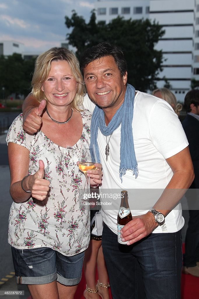 Sven Sturm and his wife Tamara attend the Norbert Dobeleit 50th birthday party at Stromberg Kutchiin on July 16, 2014 in Munich, Germany.