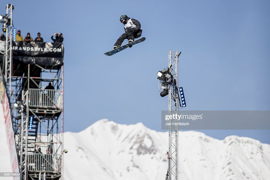 Sven Thorgren from Sweden jumps during Air and Style Festival February 6, 2016 in Innsbruck, Austria.
