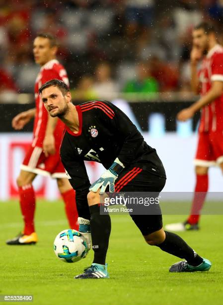 Sven Ulreich goalkeeper of Muenchen controls the ball during the Audi Cup 2017 match between Bayern Muenchen and Liverpool FC at Allianz Arena on...