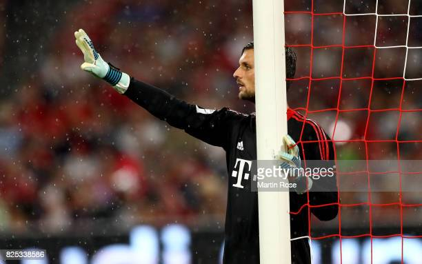 Sven Ulreich goalkeeper of Muenchen gestures during the Audi Cup 2017 match between Bayern Muenchen and Liverpool FC at Allianz Arena on August 1...