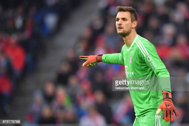Sven Ulreich of Bayern Muenchen during the Bundesliga match between FC Bayern Muenchen and FC Augsburg at Allianz Arena on November 18 2017 in Munich...