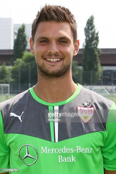 Sven Ulreich poses during the VfB Stuttgart team presentation on July 10 2013 in Stuttgart Germany