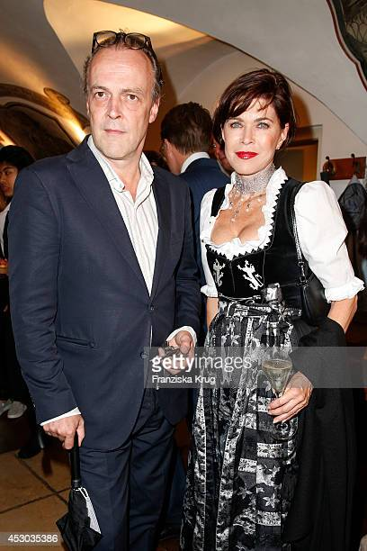 SvenEric Bechtolf and Anja Kruse attend the Montblanc Young Directors Project at Salzburg Festival on July 31 2014 in Salzburg Austria