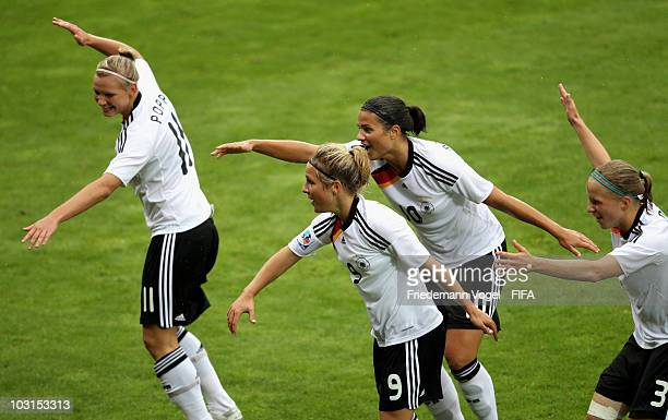Svenja Huth of Germany celebrates scoring the first goal with Alexandra Popp Dzsenifer Marozsan and Tabea Kemme during the FIFA U20 Women's World Cup...