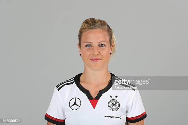 Svenja Huth of the German women's national football team poses during the team presentation on June 21 2016 in Grassau Germany