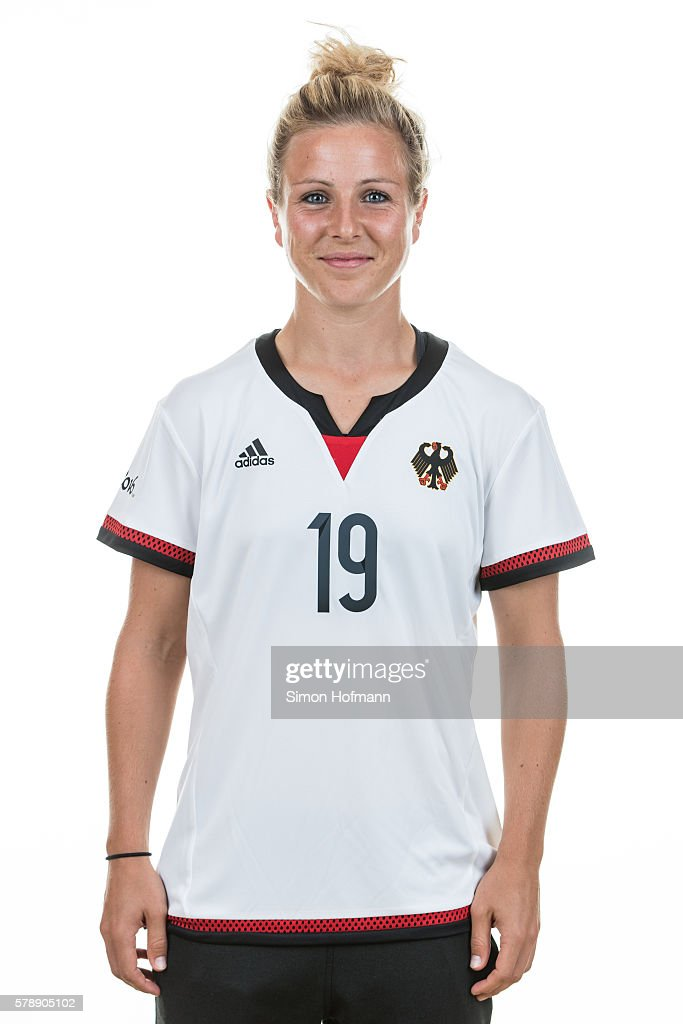 Svenja Huth poses during Germany Women's Team Presentation on July 19, 2016 in Paderborn, Germany.