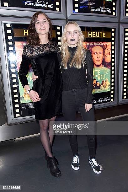 Svenja Jung and Ada Philine Stappenbeck attend the 'Die Mitte der Welt' Berlin screening on November 6 2016 in Berlin Germany