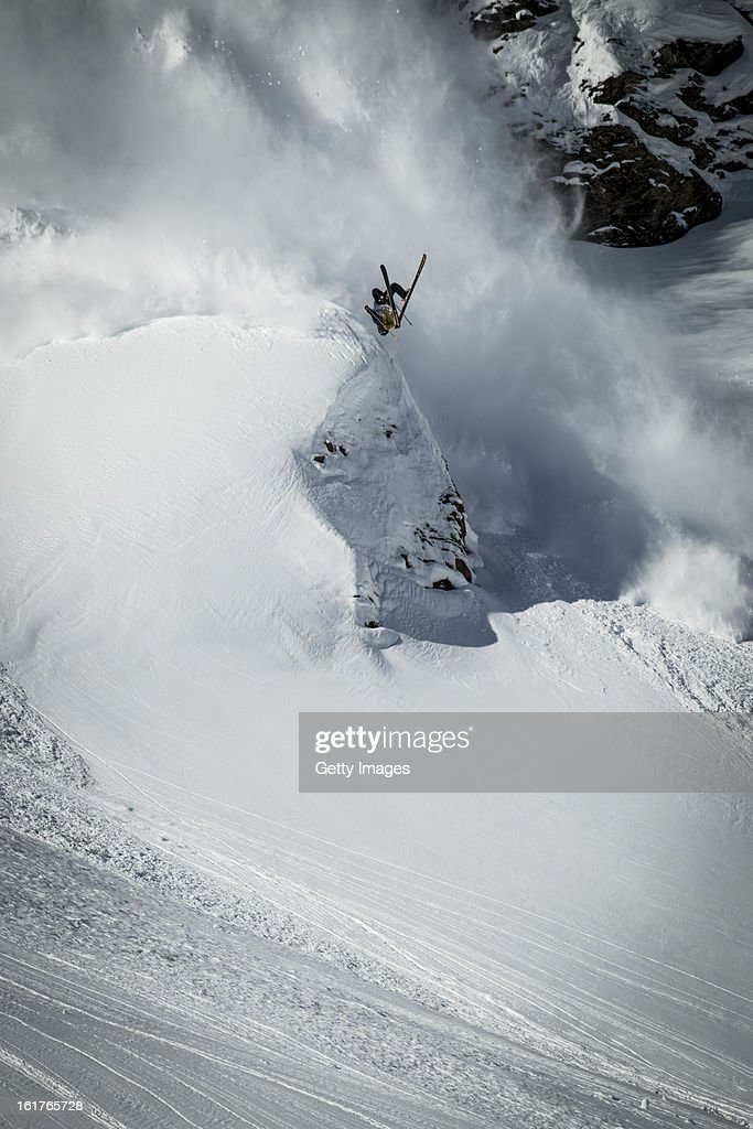 Sverre Lilequist of Sweden and Team Europe competes during day 1 of the Swatch Skiers Cup on February 10, 2013 in Zermatt, Switzerland.
