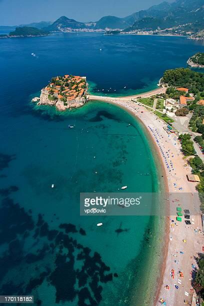 Sveti Stefan Island, Montenegro (aerial view)