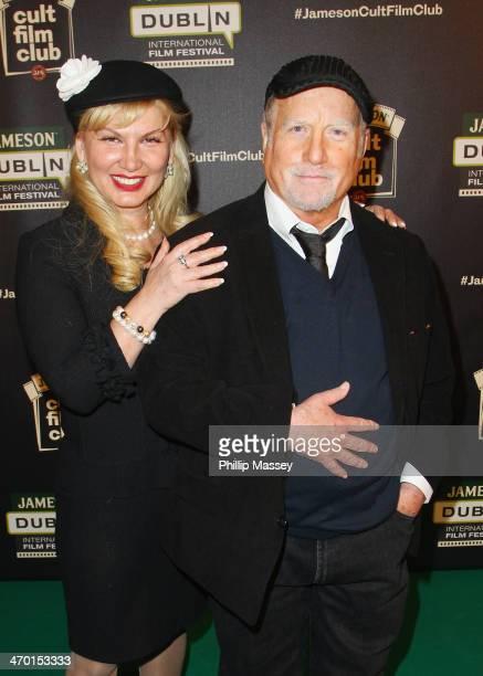Svetlana Erokhin and Richard Dreyfuss attend a screening of 'Jaws' the Cult Film Club screening at the Jameson Dublin International Film Festival at...