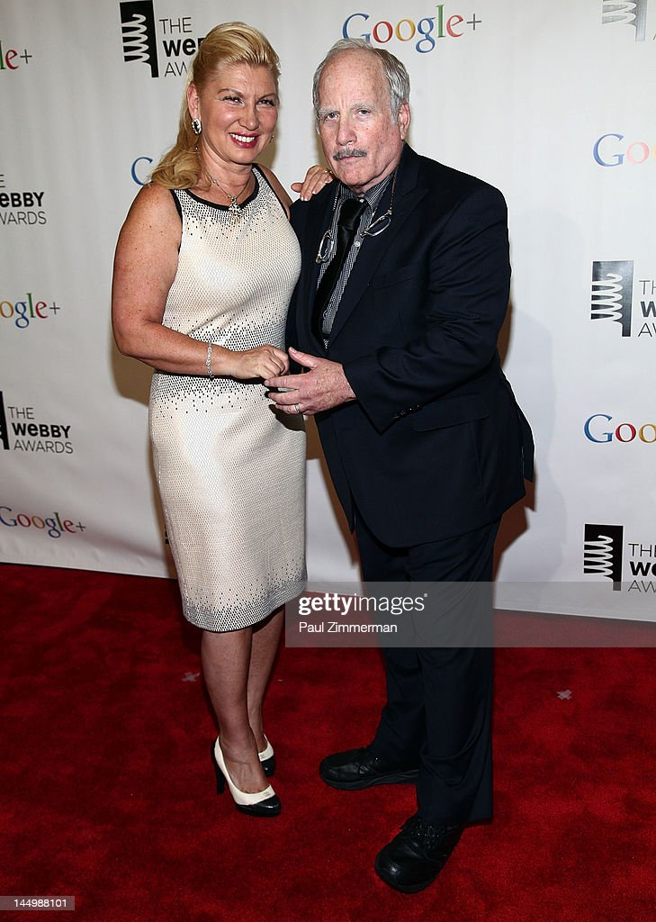 Svetlana Erokhin and Richard Dreyfuss attend the 16th Annual Webby Awards at Hammerstein Ballroom on May 21, 2012 in New York City.