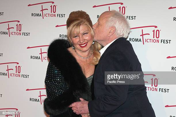 Svetlana Erokhin and Richard Dreyfuss walk the red carpet for the opening ceremony of the Roma Fiction Fest 2016