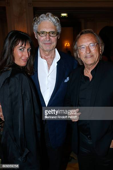 Svetlana Garrel actor Michael Nouri and Alexandre Arcady attend the Charity Dinner to Benefit 'Claude Pompidou Foundation' following the 'Cezanne et...