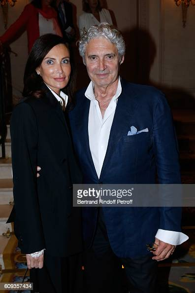 Svetlana Garrel and actor Michael Nouri attend the Charity Dinner to Benefit 'Claude Pompidou Foundation' following the 'Cezanne et Moi' movie...