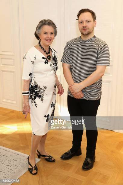 Svetlana Kassessinova Lloyd and Alexander Fury attends the Dior cocktail party to celebrate the launch of Dior Catwalk by Alexander Fury on July 19...