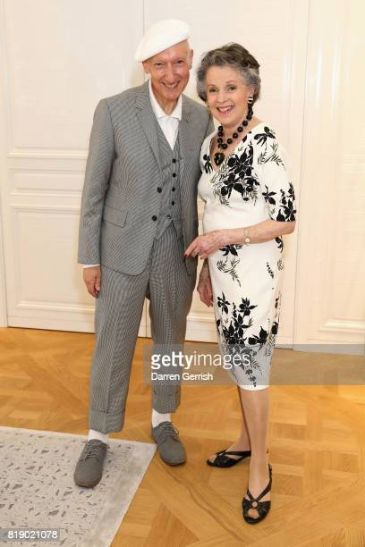 Svetlana Kassessinova Lloyd and Stephen Jones attend the Dior cocktail party to celebrate the launch of Dior Catwalk by Alexander Fury on July 19...