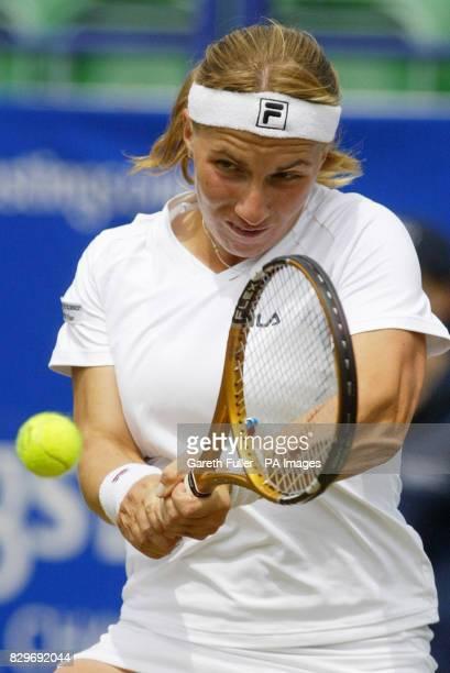 Svetlana Kuznetsova in action during her match against Nathalie Dechy