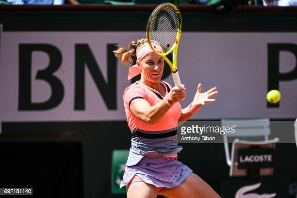 Svetlana Kuznetsova of Russia during the day 8 of the French Open at Roland Garros on June 4 2017 in Paris France