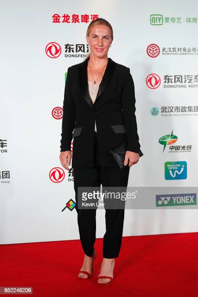 Svetlana Kuznetsova of Russia poses for a picture at a party of 2017 DONGFENG MOTOR WUHAN OPEN on September 23 2017 in Wuhan China