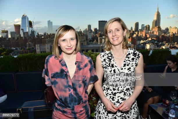 Svetlana Novikova and Jessica Whitt attend The Junior Board of The TEAK Fellowship Presents A Midsummer Night at PhD Lounge at the Dream Downtown New...