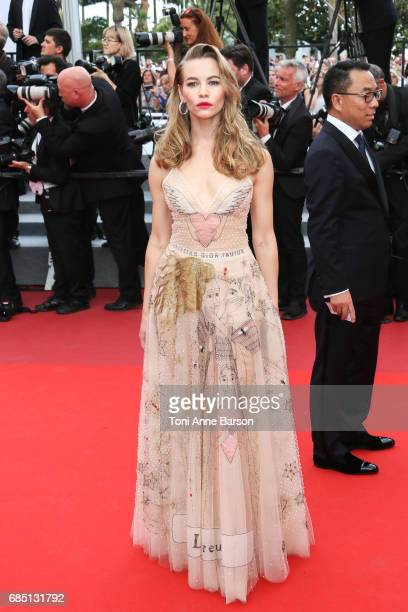 Svetlana Ustinova attends the 'Nelyobov ' screening during the 70th annual Cannes Film Festival at Palais des Festivals on May 18 2017 in Cannes...