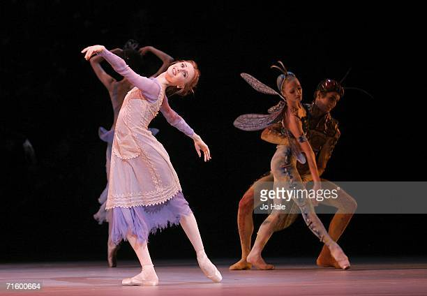 Svetlana Zakharova of the Moscow Bolshoi Theater Cinderella Ballet performs at the Royal Opera House in Covent Garden on August 7 2006 in London...