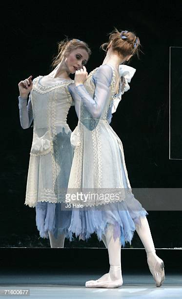 Svetlana Zakharova of the Moscow Bolshoi Theater Cinderella Ballet perform at the Royal Opera House in Covent Garden on August 7 2006 in London...