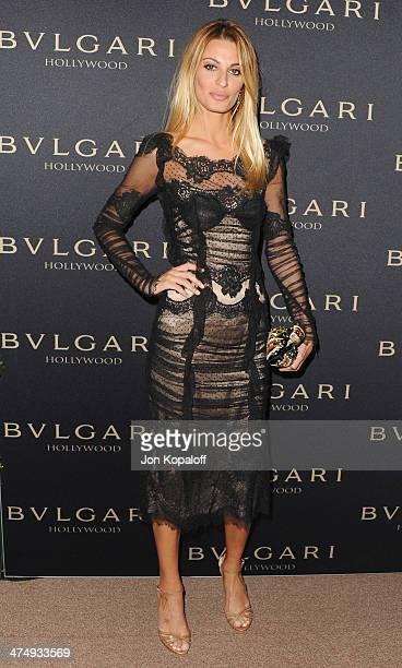 Sveva Alviti arrives at BVLGARI 'Decades Of Glamour' Oscar Party Hosted By Naomi Watts at Soho House on February 25 2014 in West Hollywood California